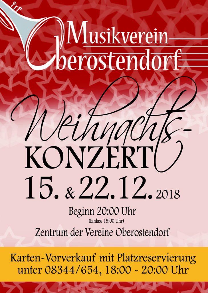 Weihnachtskonzert 2018 Musikverein Oberostendorf