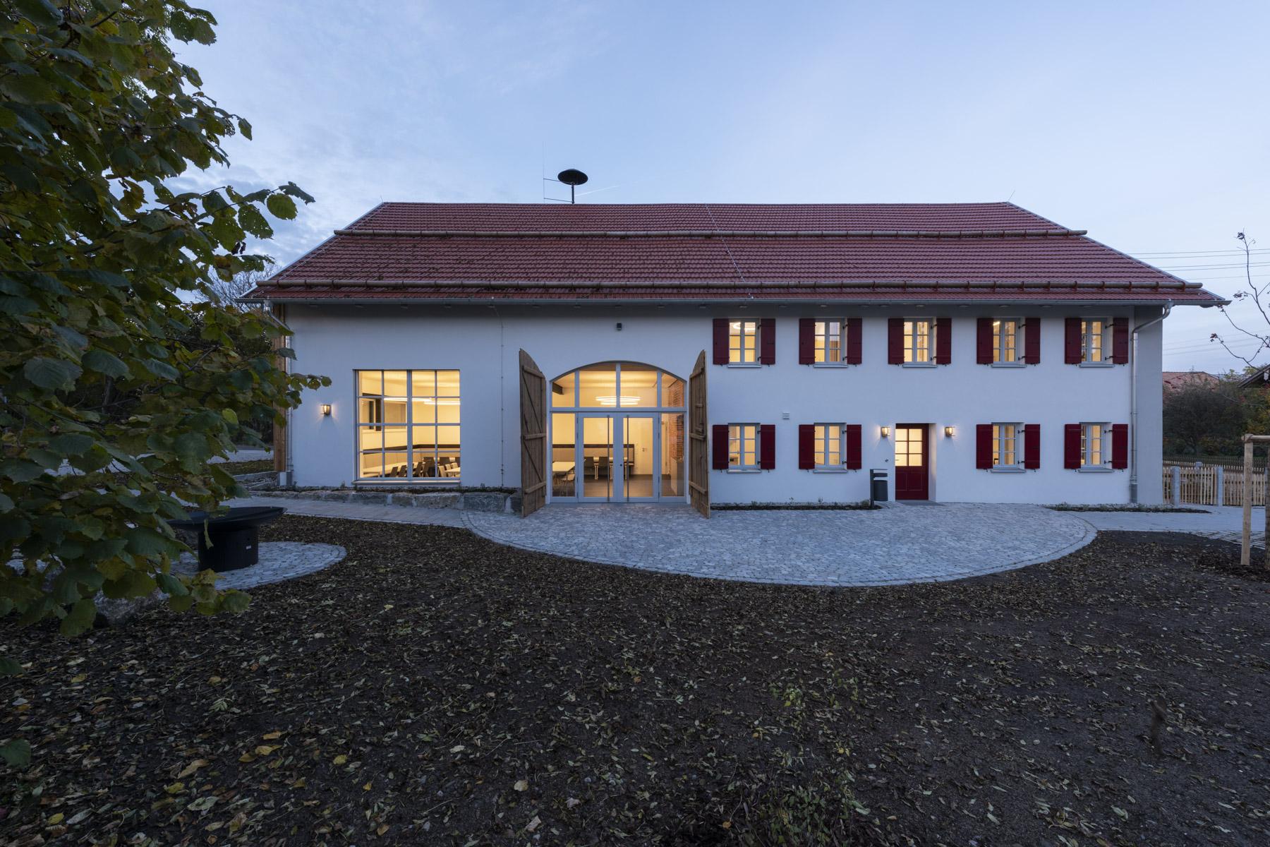 Dorfgemeinschaftshaus Gutenberg nach der Renovierung 2020